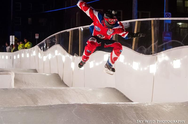 Alex Mercier au Red Bull Ice Cross de Percé