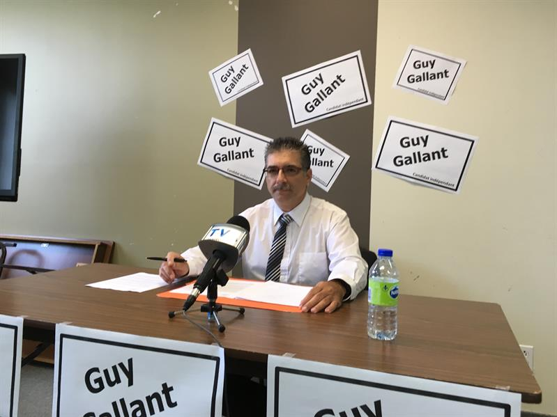 Guy Gallant officialise sa candidature comme indépendant